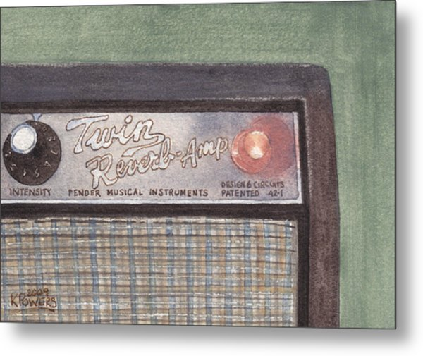 Guitar Amp Sketch Metal Print