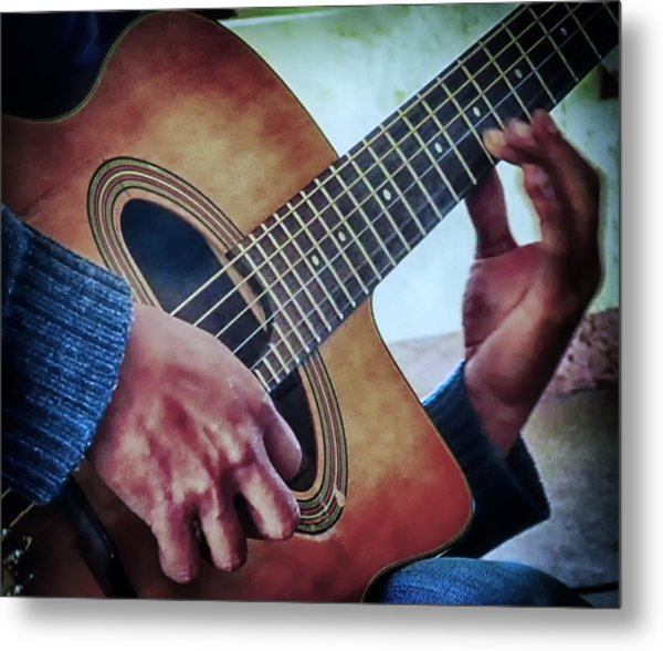 Guitar Man Metal Print by Barry Weiss