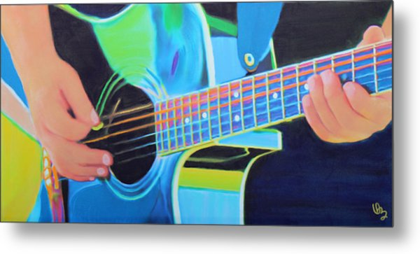 Guitar Man Metal Print