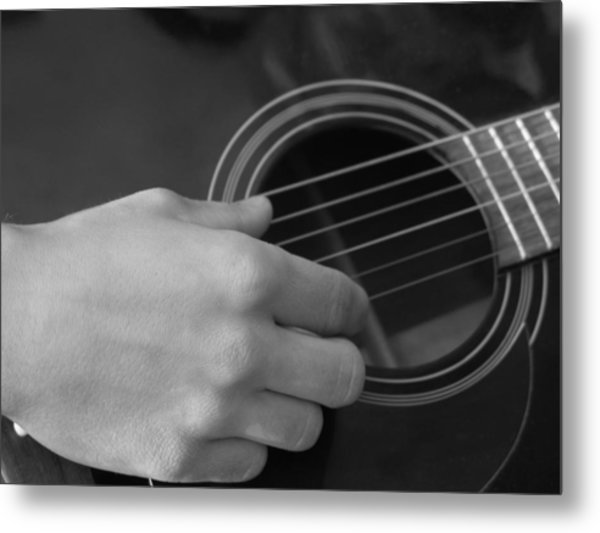 Guitar Metal Print by Mark C Ettinger