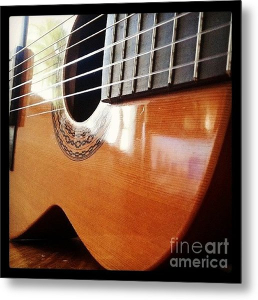 #guitar #music #musicalinstrument Metal Print