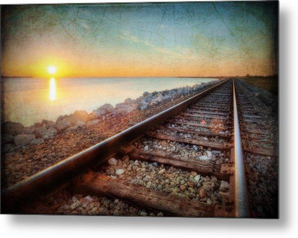 Gulf Coast Railroad Metal Print