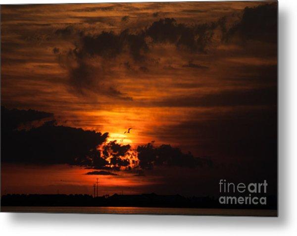 Gulf Coast Sunset 1 Metal Print