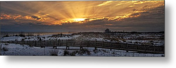 Gulf Shores From Pavilion Metal Print