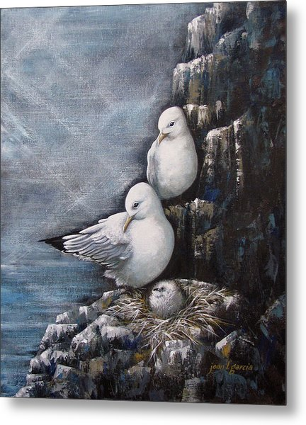 Gull Family Metal Print