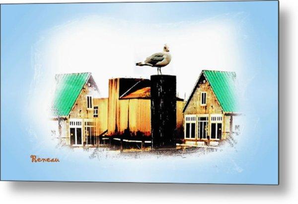 Gull House Metal Print