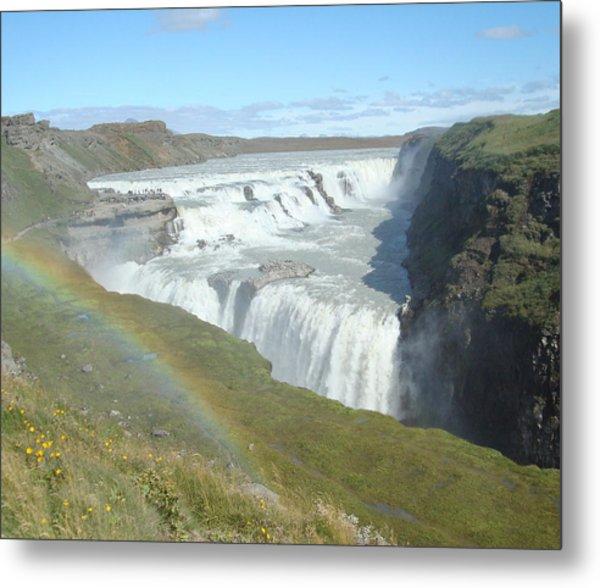 Gullfoss Waterfall Metal Print