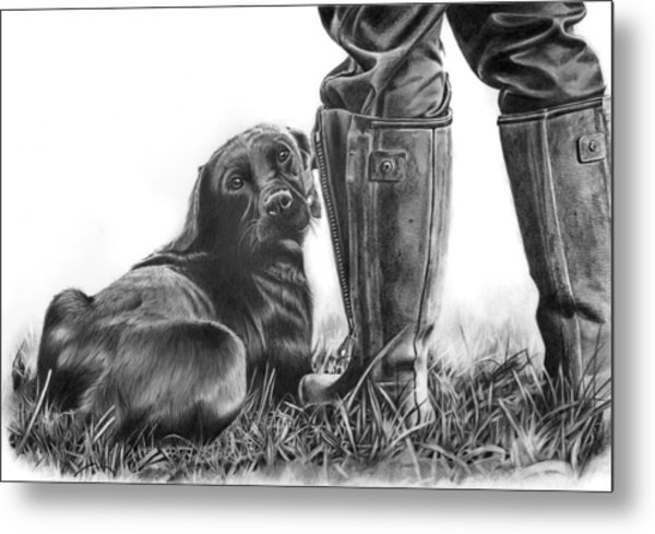 Gun Dog Metal Print