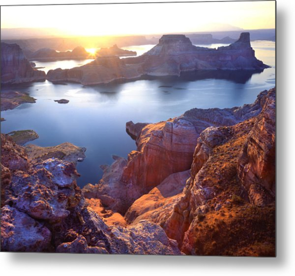 Gunsight Bay Sunrise Metal Print