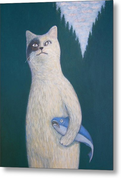 Gunter And His Pet Fish Klaus Metal Print