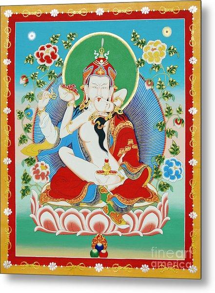 Guru Rinpoche Yab Yum Metal Print