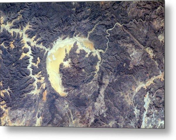 Gweni-fada Impact Crater Metal Print