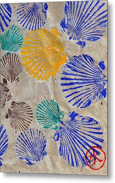 Gyotaku Scallops - Shellfish Apetite Sushi Metal Print