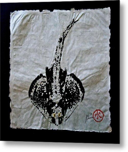 Gyotaku - Skate - Stingray  Metal Print