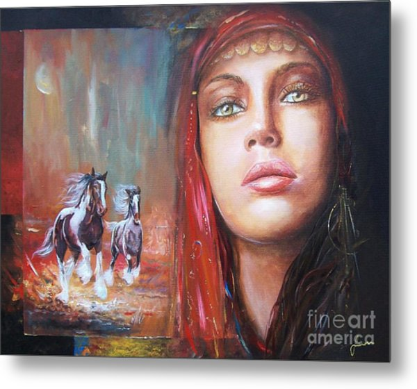 Gypsy Beauty Metal Print