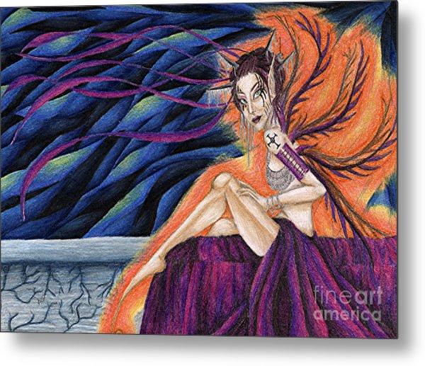 Gypsy Eyes Metal Print by Coriander  Shea