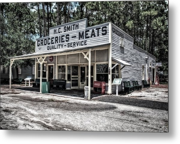 H C Smith's Groceries Heritage Village Metal Print