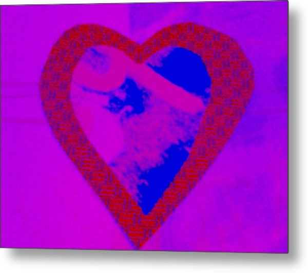 H-heart Metal Print by Dorothy Rafferty