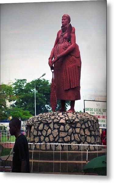 Edo Chief Statue Metal Print