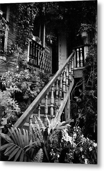 Hacienda Stairway Metal Print
