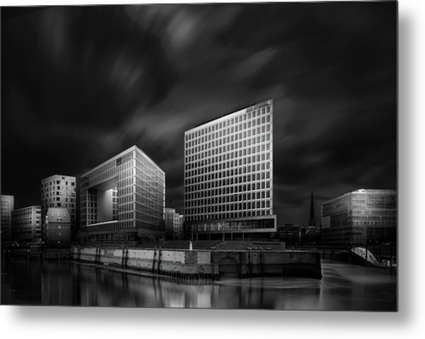 Hafencity And Spiegel Office Building Metal Print