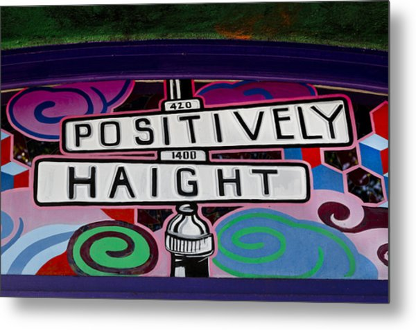 Haight-ashbury Art In San Francisco Metal Print
