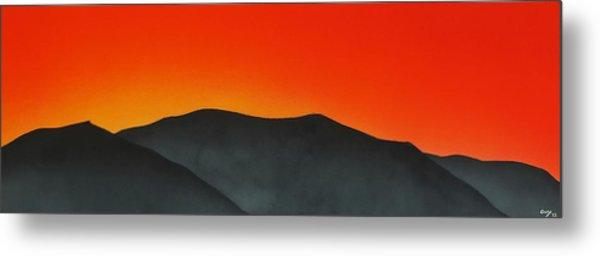 Hakarimata Sunset Metal Print