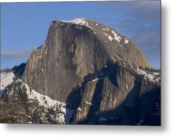 Half Dome Close Up In Winter Metal Print by Richard Berry