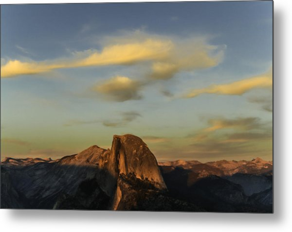 Half Dome Sunset Metal Print
