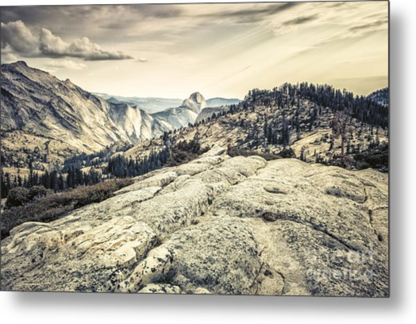 Half Dome View Metal Print