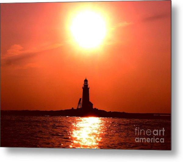 Halfway Rock Lighthouse Metal Print