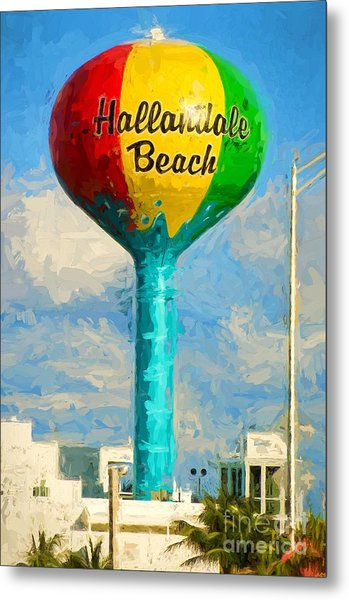 Hallandale Beach Water Tower Metal Print
