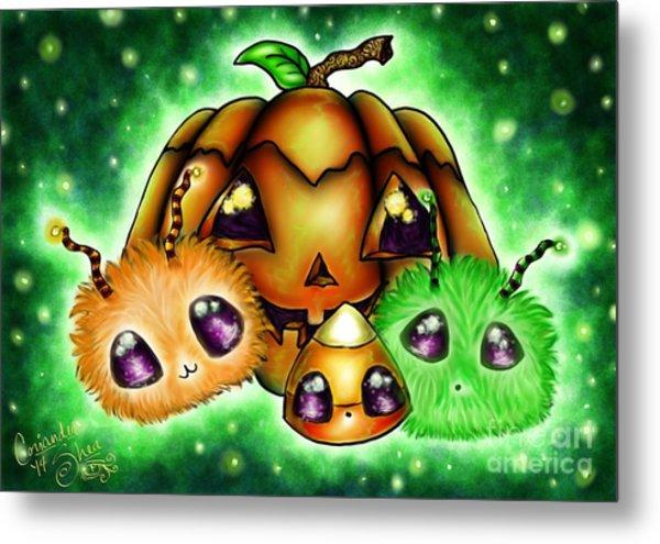 Halloween Menagerie Metal Print by Coriander  Shea