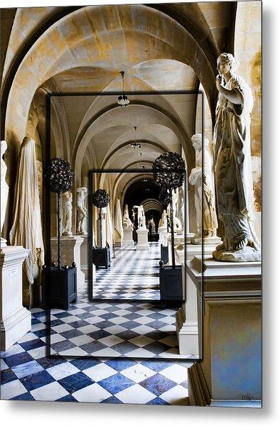 Halls Of Versailles Paris Metal Print