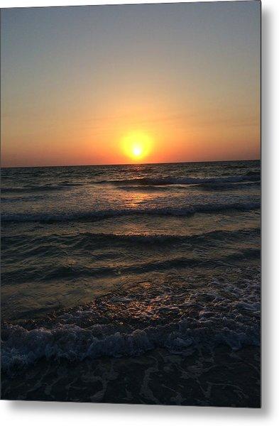 Halo Sun At Indian Rocks Beach Metal Print