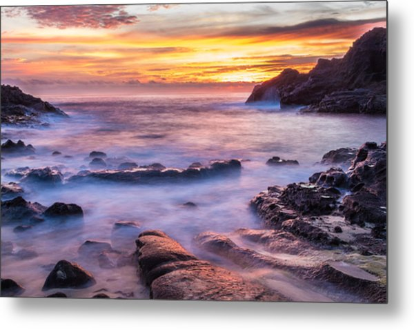 Halona Cove Sunrise 3 Metal Print