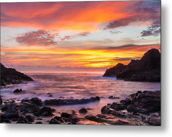 Halona Cove Sunrise 4 Metal Print