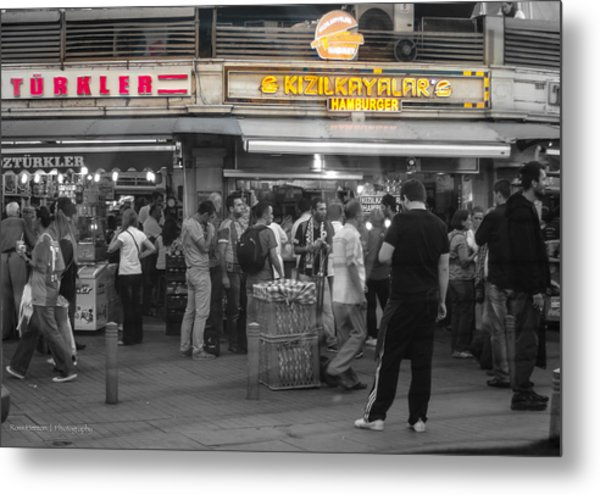 Hamburger Across The World Metal Print