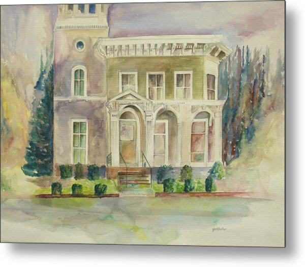 Metal Print featuring the painting Hamden House by Lynn Buettner