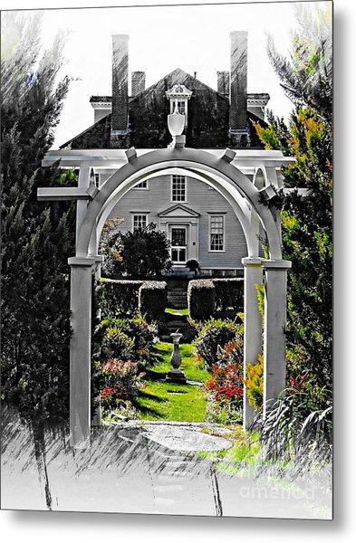 Hamilton House Gardens Metal Print
