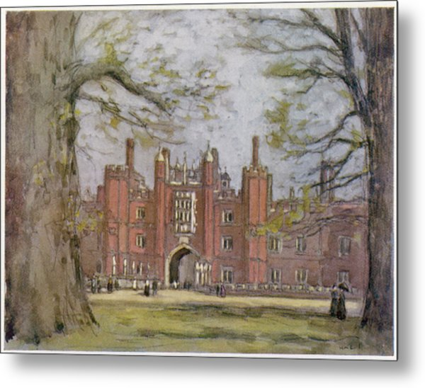 Hampton Court, West London, Showing Metal Print by Mary Evans Picture Library