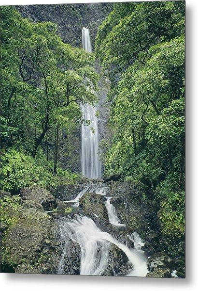 100105-hanakapiai Falls, Kauai  Metal Print
