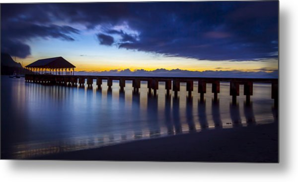 Hanalei Twilight Metal Print