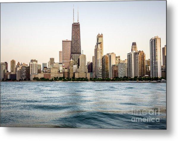 Hancock Building And Chicago Skyline Metal Print