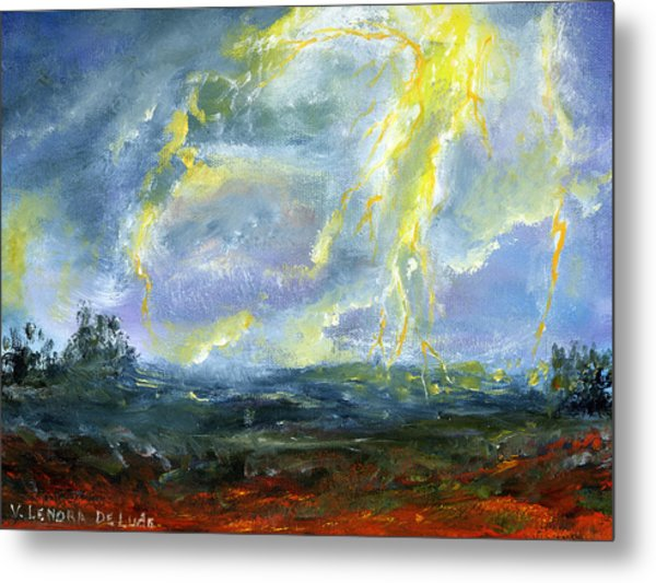 Hand Painted Art Louisiana Storm Metal Print