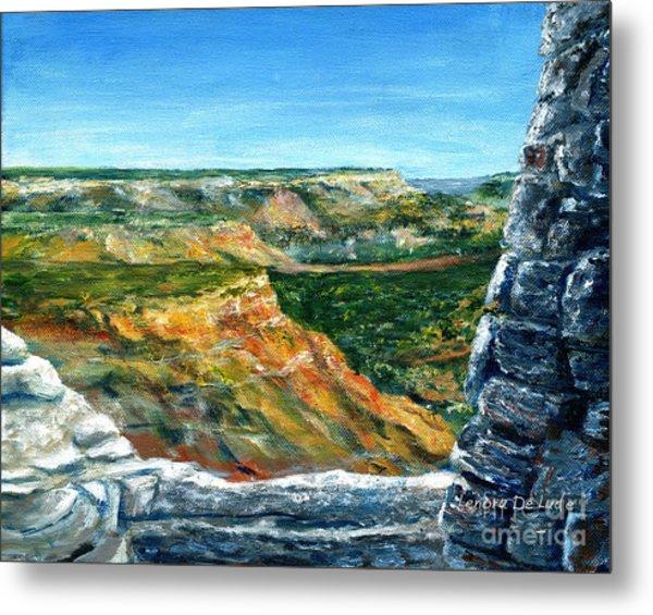 Hand Painted Palo Duro Texas Landscape Metal Print