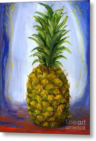 Hand Painted Pineapple Fruit  Metal Print