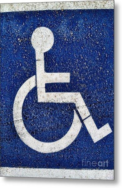 Handicapped Symbol Metal Print