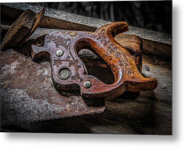 Handle On The Saw  Metal Print