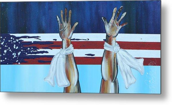 Hands Up Dont Shoot Metal Print